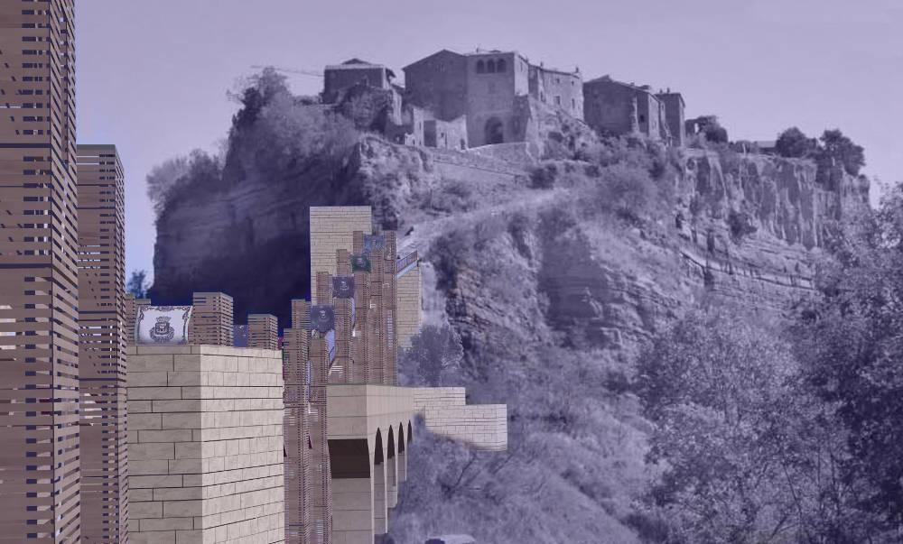 cività di bagnoregio paesaggio rupe percorso architecture