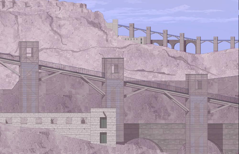 cività di bagnoregno paesaggio rupe percorso architecture