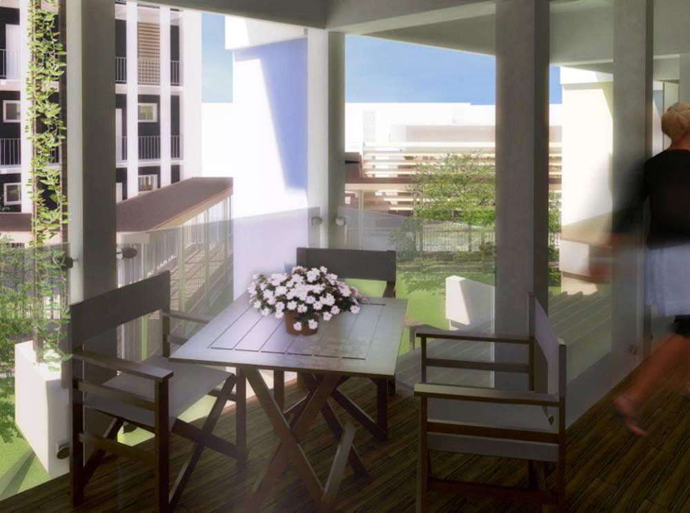 residenze viste balconi terrazza casorate