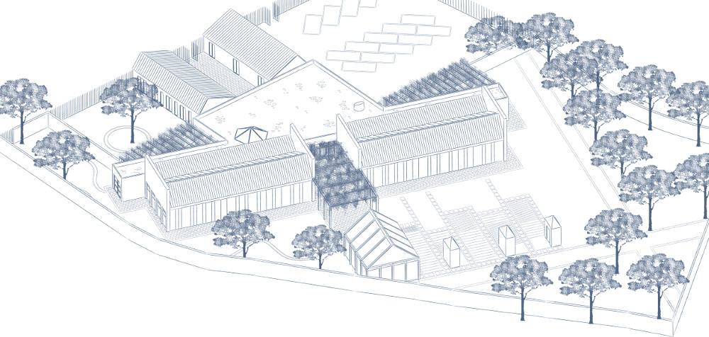 assonometria architettura roma asilo scuola materna