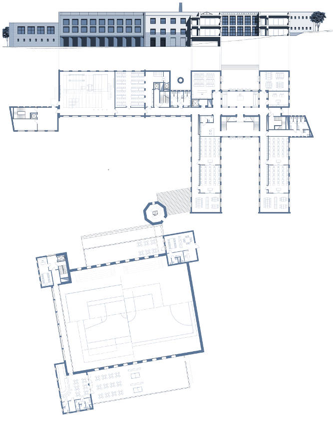planimetria monasterolo bergamo centro didattico ricreativo sportivo