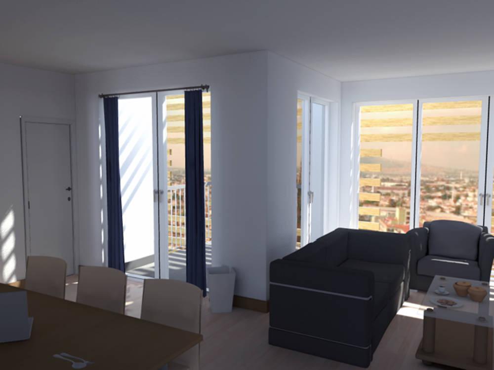 Guadalajara residential tower appartementi progetto messico interior