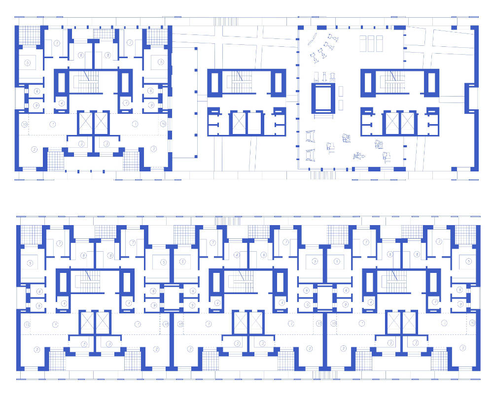 Guadalajara residential tower appartementi progetto messico planimetric