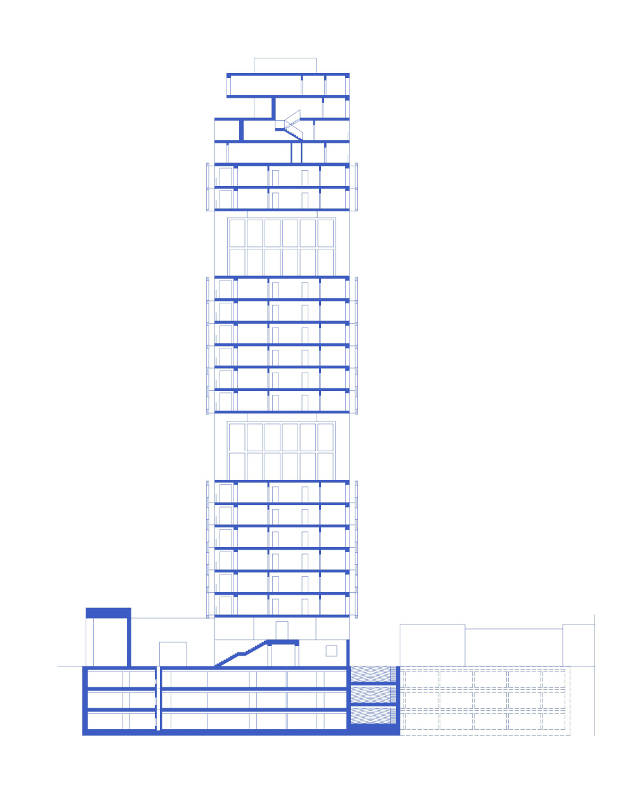 Guadalajara residential tower appartementi progetto messico section